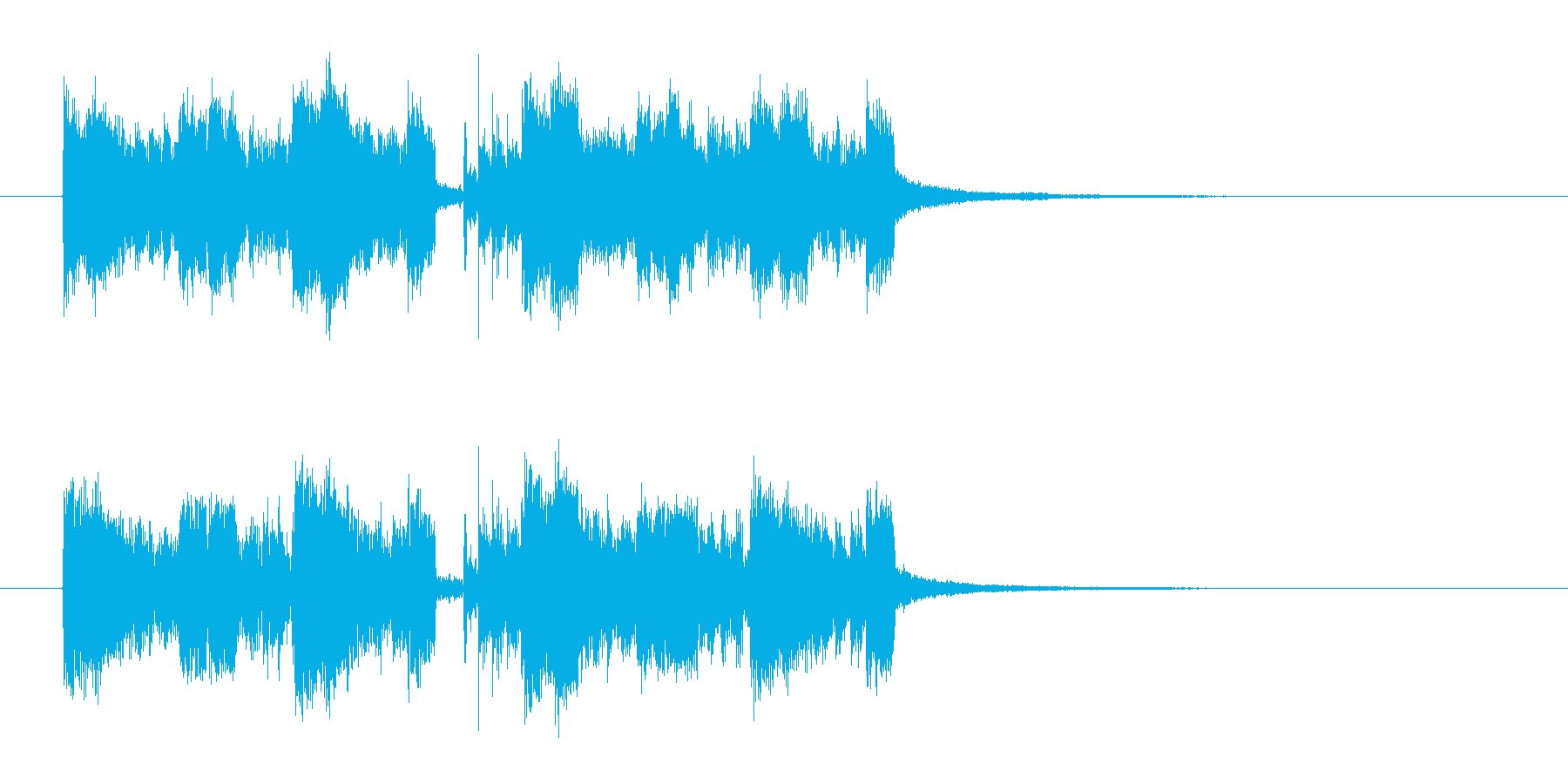 ロックで軽快なエレキジングルの再生済みの波形
