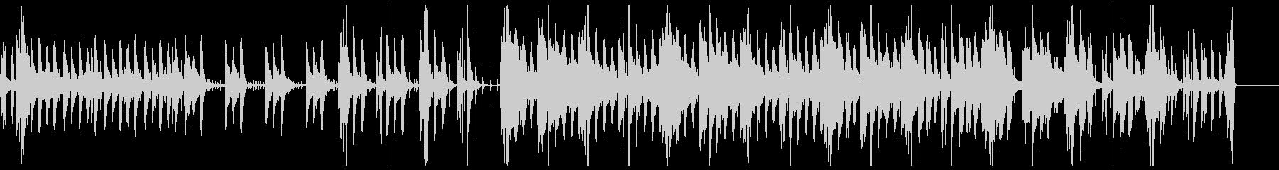 神秘的な雰囲気のBGMの未再生の波形
