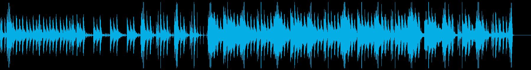 神秘的な雰囲気のBGMの再生済みの波形