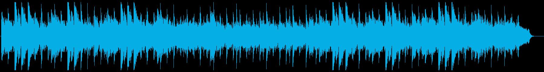 ウクレレとスティールギターのハワイアンの再生済みの波形