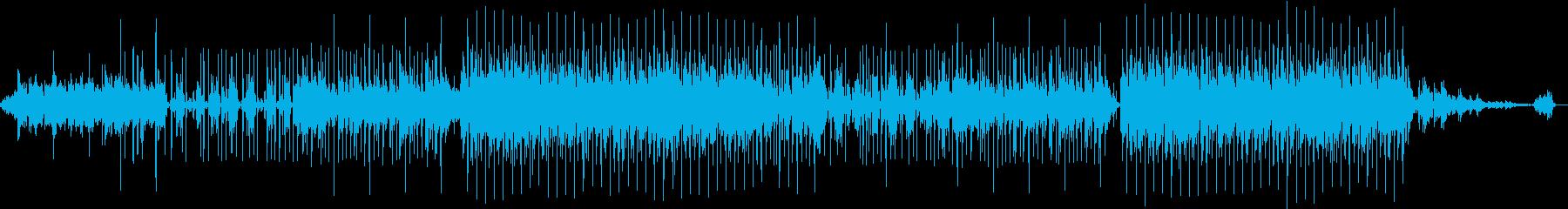 好きなコード進行を多様したポップスの再生済みの波形