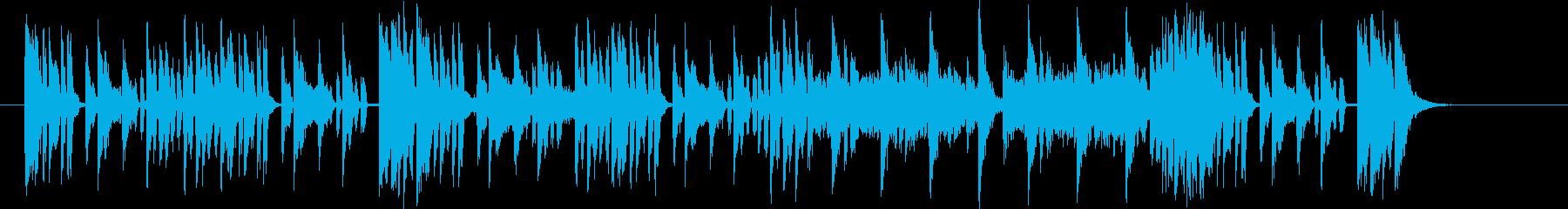 デジタルファンクな30秒BGMの再生済みの波形