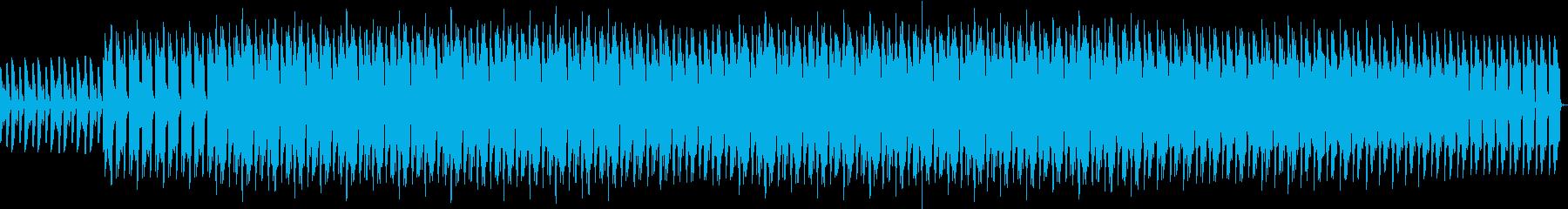 ピアノと笛がベースのエレクトロの再生済みの波形