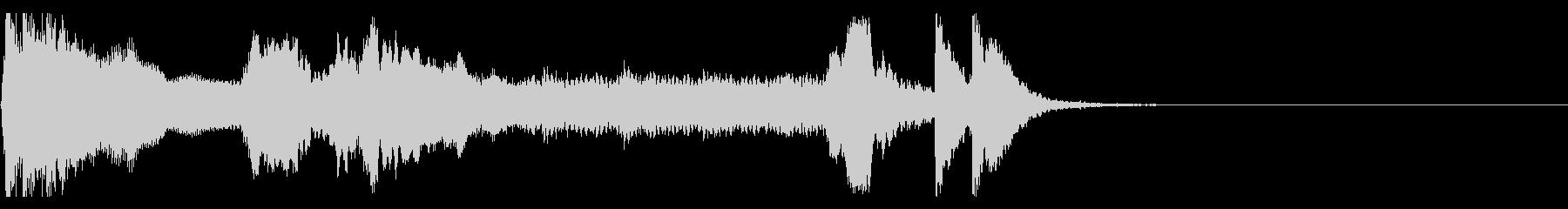 和風 掛け声とツツミと篠笛+三味線の未再生の波形