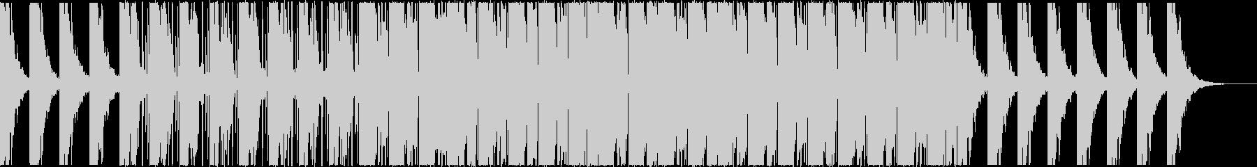 クールな雰囲気のBGMの未再生の波形