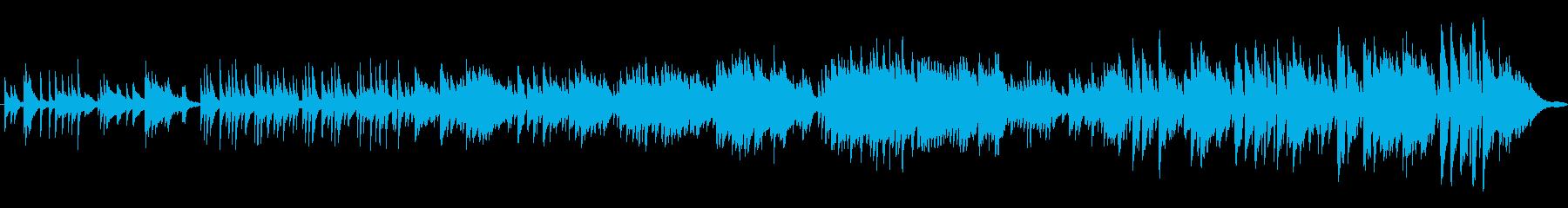 雨上がりの新鮮なピアノの響きの再生済みの波形