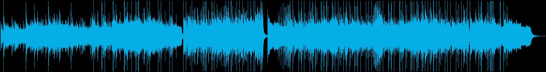 ゆったりとした情景的なBGMの再生済みの波形