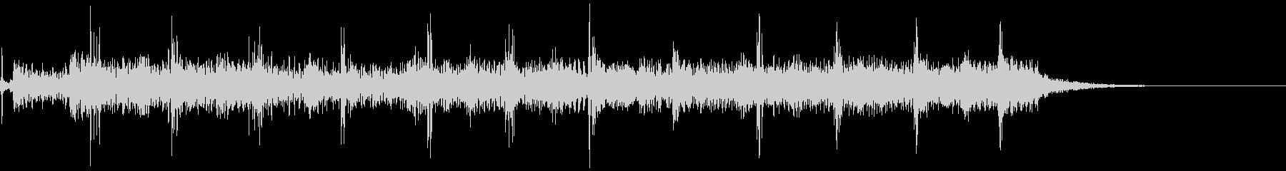 典型的なフラメンコギターのフレーズの未再生の波形