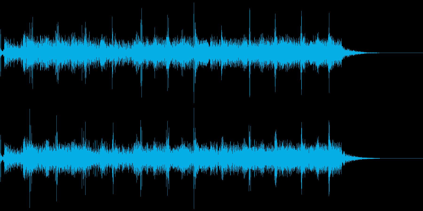 典型的なフラメンコギターのフレーズの再生済みの波形