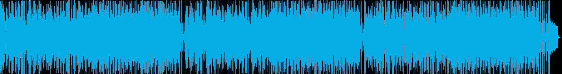 軽いノリのポップスBGMの再生済みの波形
