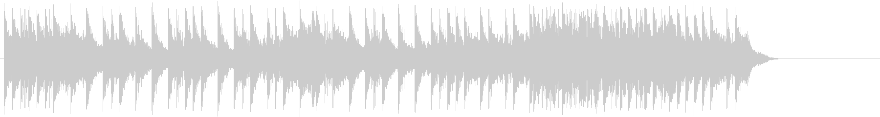 15秒の短いハードロック系ドラムソロの未再生の波形