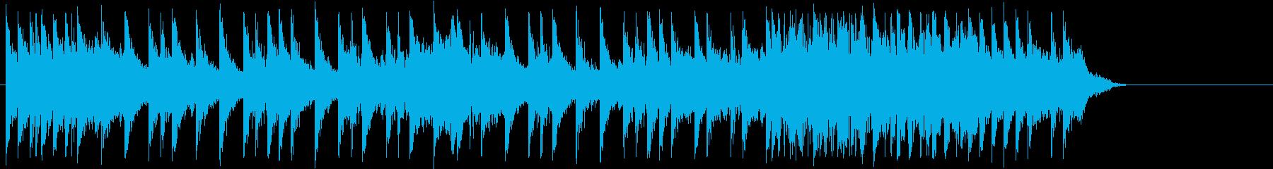15秒の短いハードロック系ドラムソロの再生済みの波形
