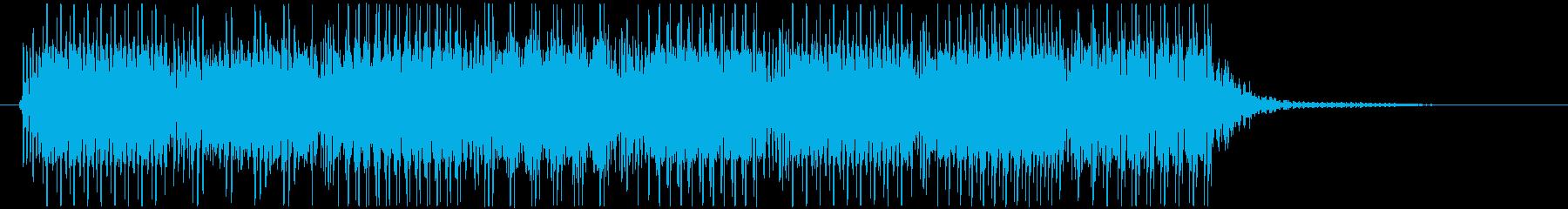 ファミコン風ゲームオーバー・フレーズの再生済みの波形