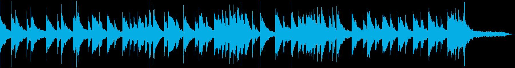 穏やかでひっそりとしたピアノ曲の再生済みの波形