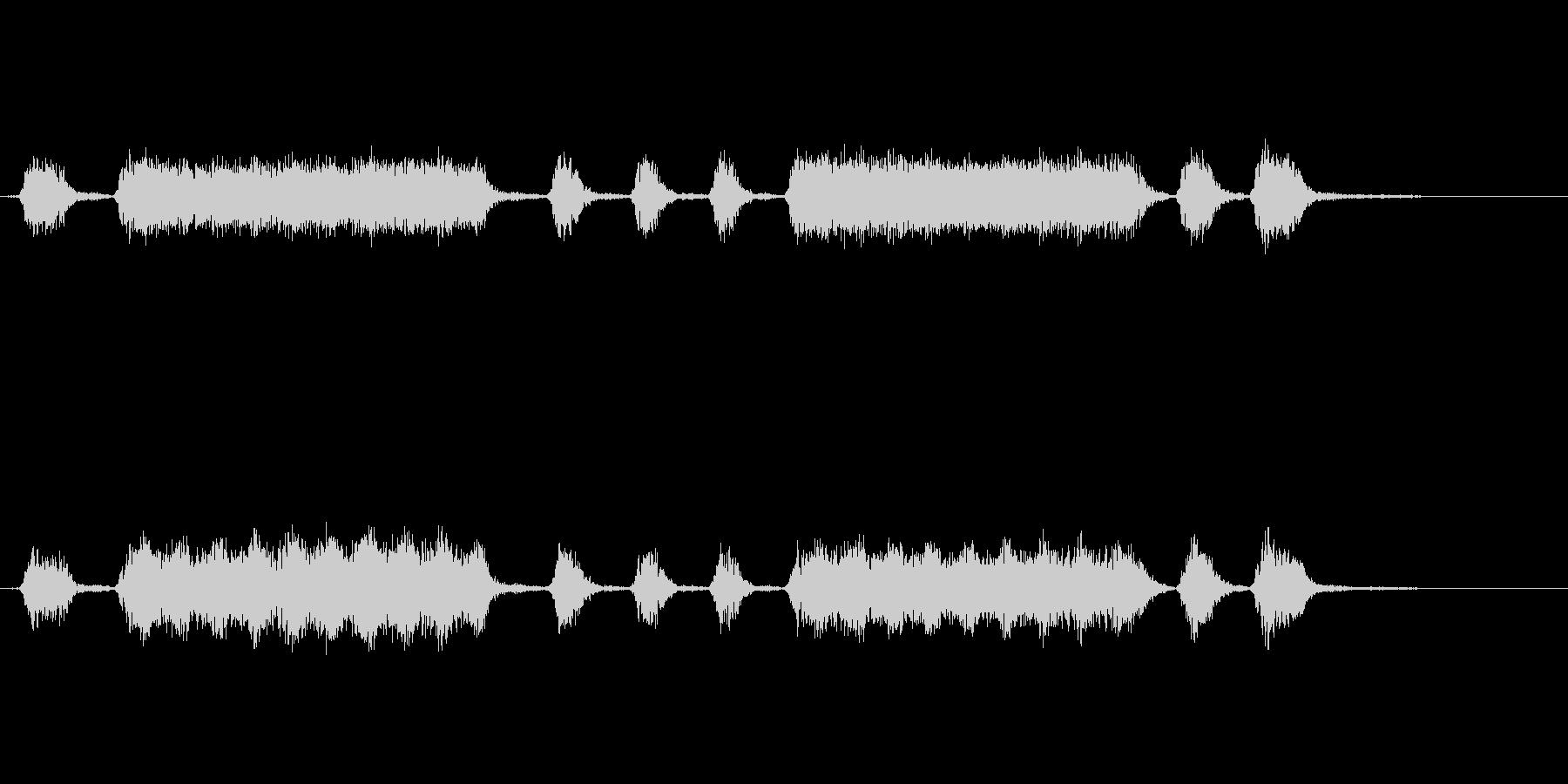 大きくて様々なショート、ミディアム...の未再生の波形