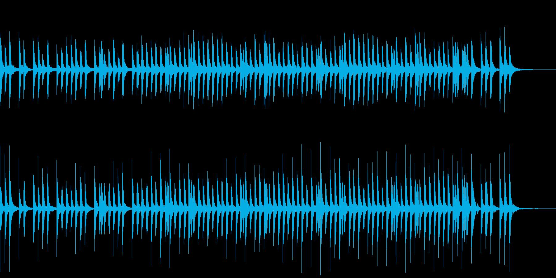 ゆったりカワイイ教育映像向けピアノソロの再生済みの波形