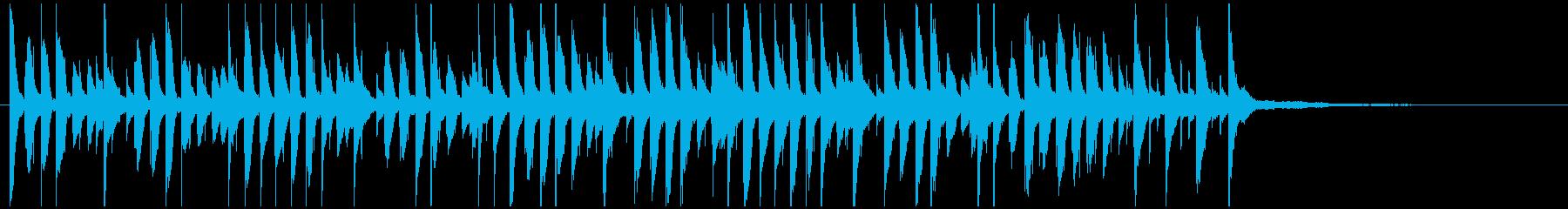 明るく楽しいジングル ピアノでかわいいの再生済みの波形