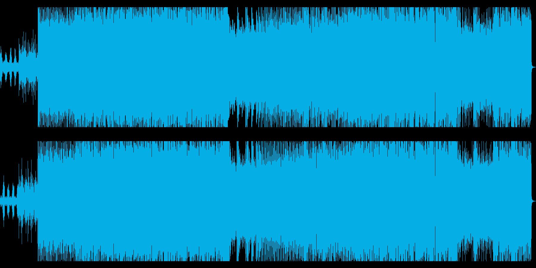 ギター/ベースのリフがメインのロックの再生済みの波形