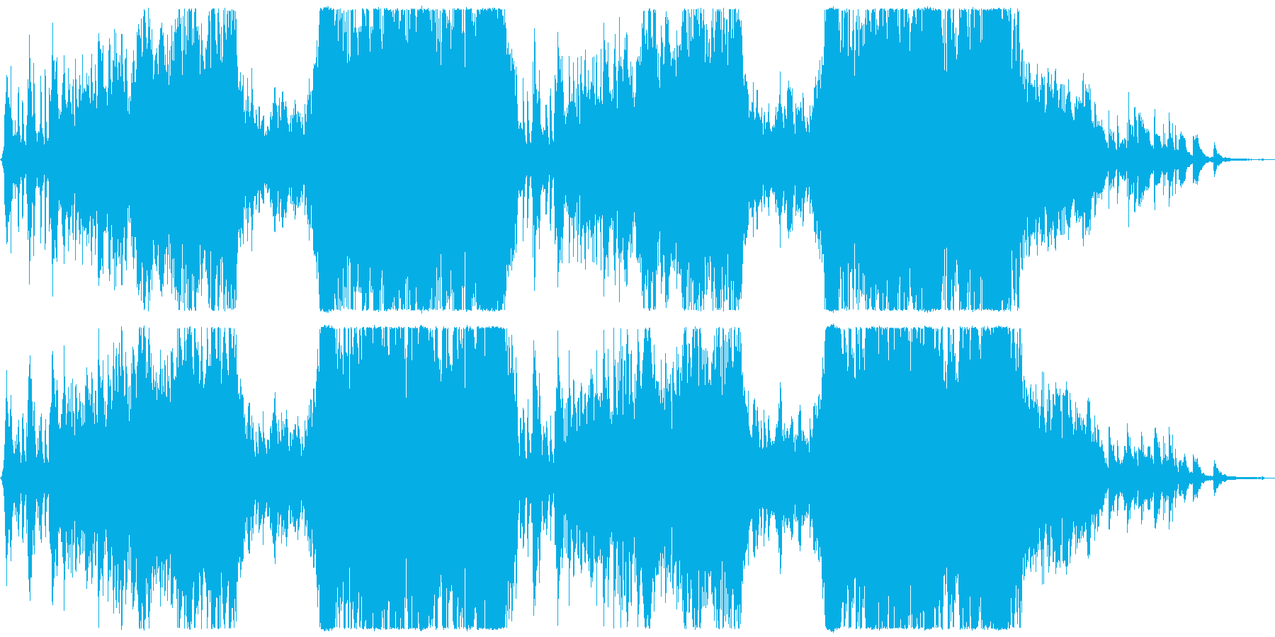 Positive grand pop orchestra's reproduced waveform