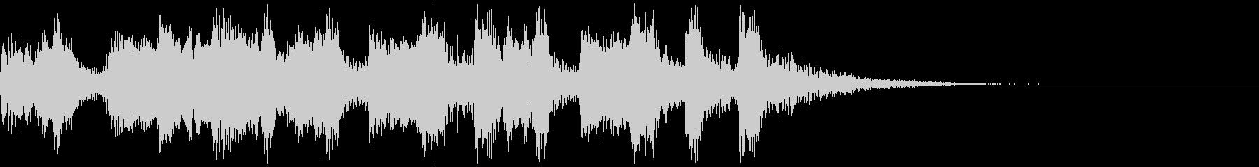 アコーディオンのサーカス風ジングルの未再生の波形