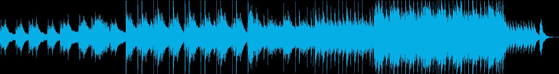幻想的な和風の琴と尺八の再生済みの波形