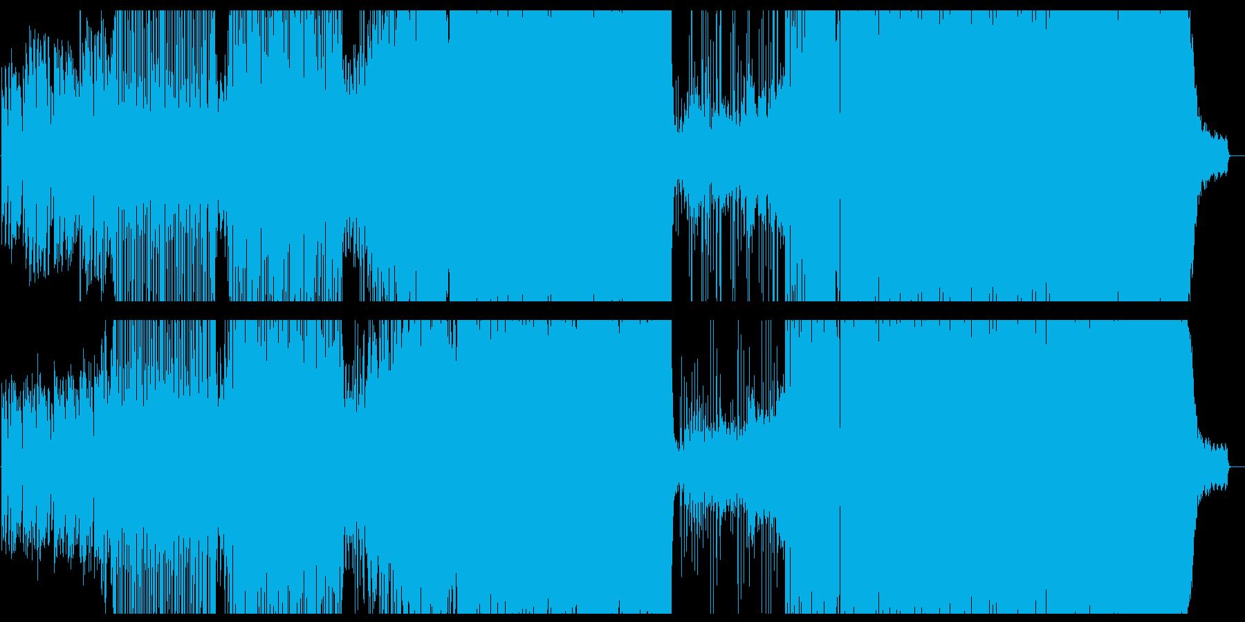おしゃれで疾走感のあるシンセサウンドの再生済みの波形