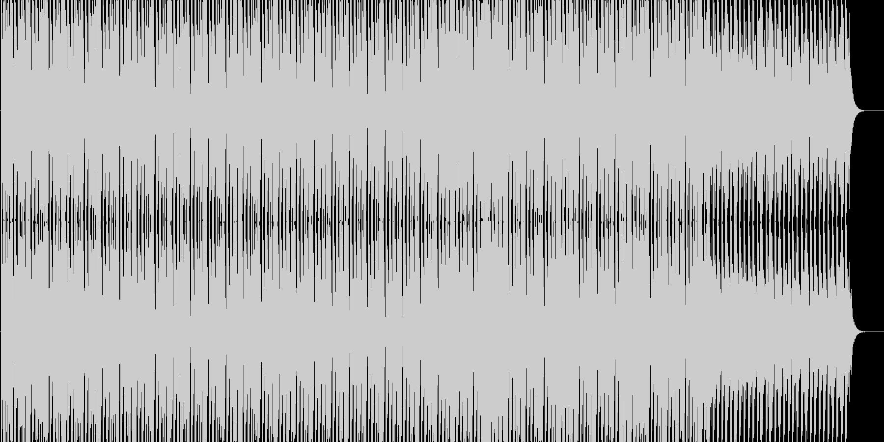 聴き心地よいテクノサウンドの未再生の波形