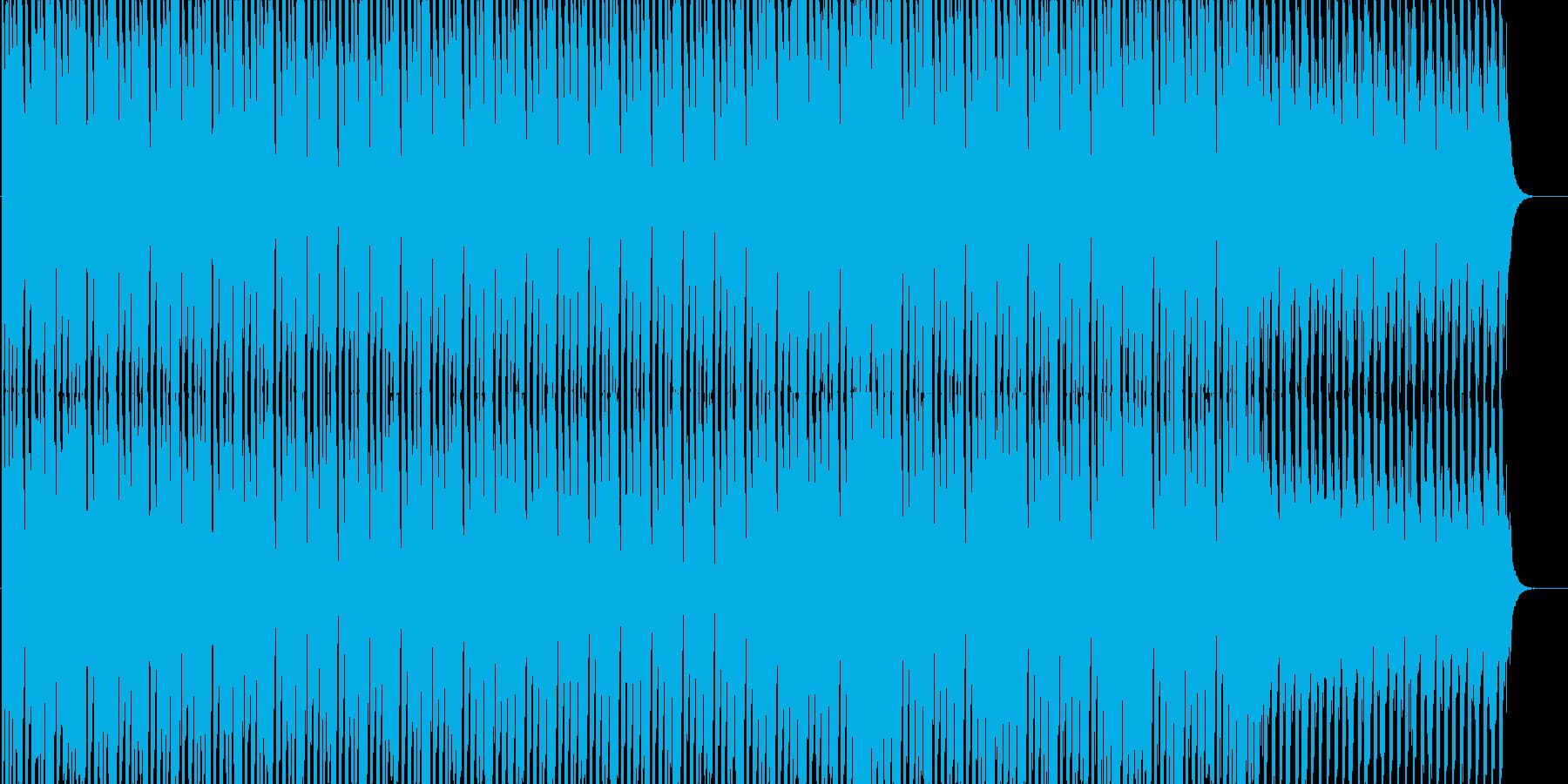 聴き心地よいテクノサウンドの再生済みの波形