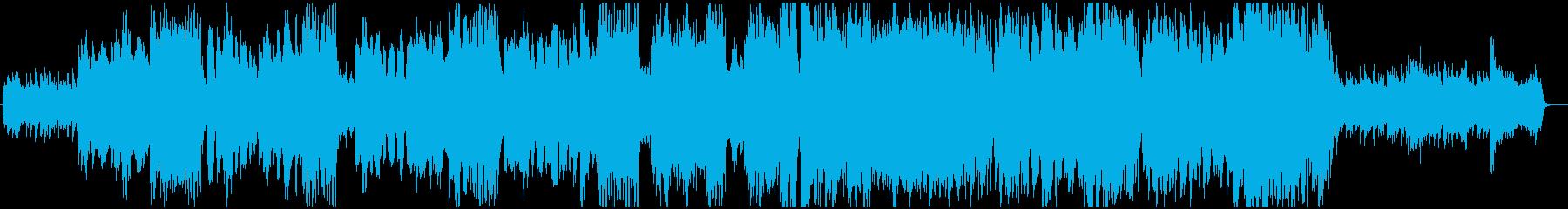 落ち着いたのどかな雰囲気のBGMの再生済みの波形