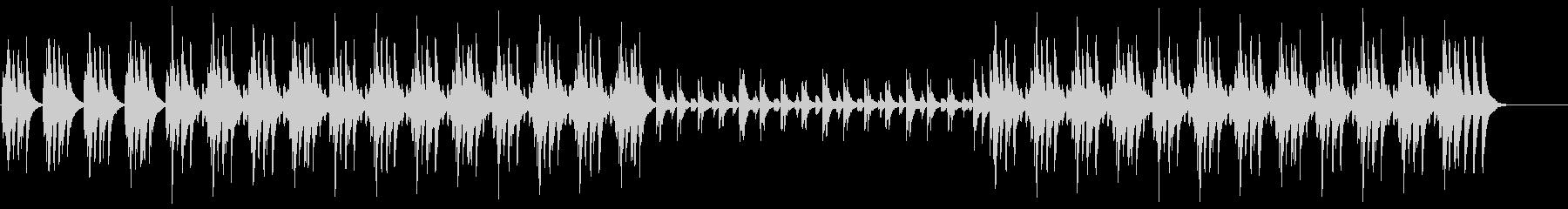メロディアスで跳ねるような木琴BGMの未再生の波形