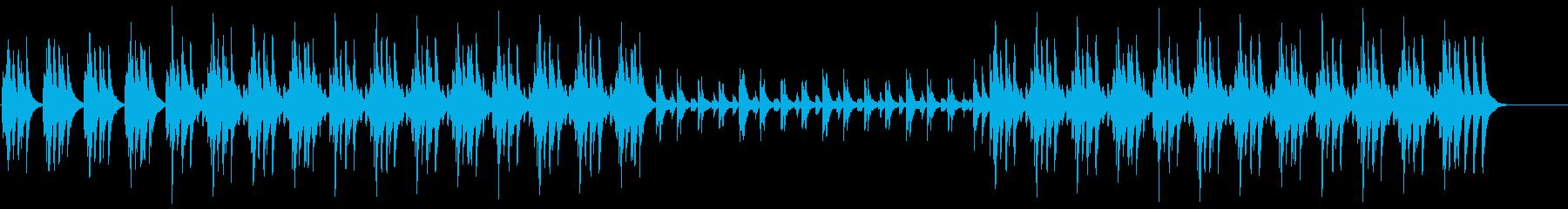 メロディアスで跳ねるような木琴BGMの再生済みの波形