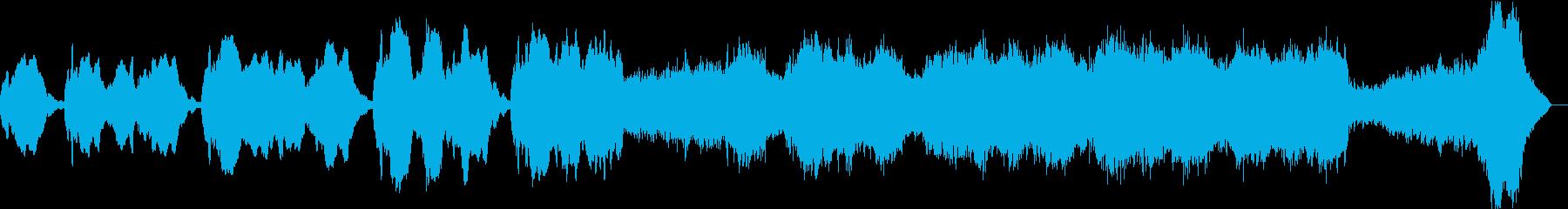 壮大なイメージのstrings曲の再生済みの波形