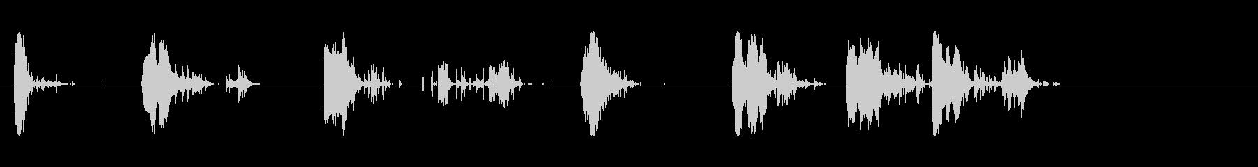 斧;木材を引き裂く複数の影響;一連...の未再生の波形