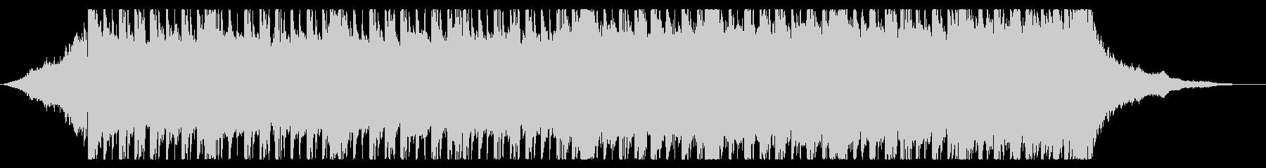 少しスローテンポでロックなBGMの未再生の波形