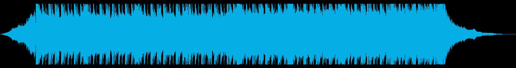 少しスローテンポでロックなBGMの再生済みの波形