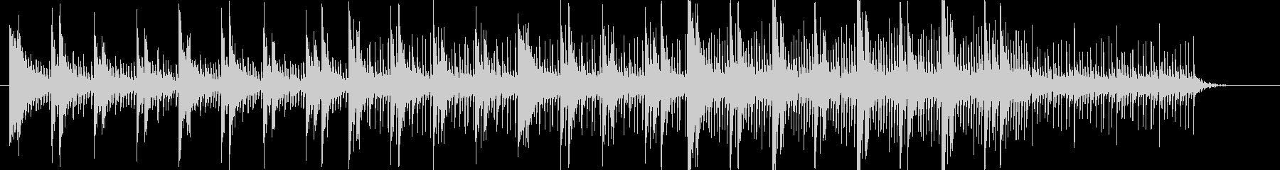 デジタル•アンビエント系の楽曲です。の未再生の波形