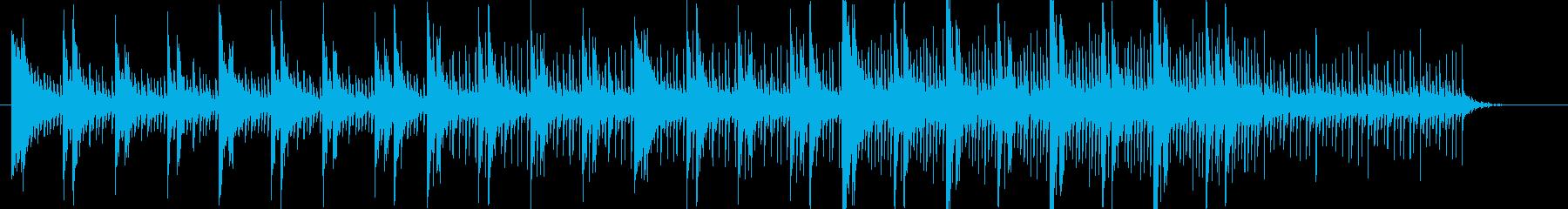 デジタル•アンビエント系の楽曲です。の再生済みの波形