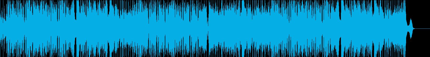 サックスの軽快なフュージョンの再生済みの波形
