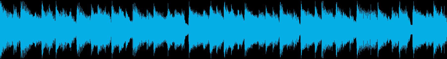 リラックスムードのアコースティックの再生済みの波形