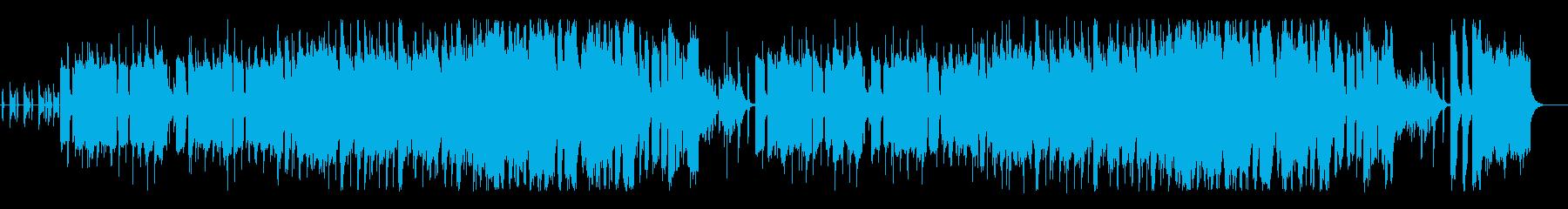 ゆったりしたほのぼの系BGMの再生済みの波形