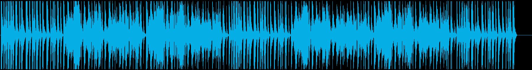 明るく軽快な和風BGMの再生済みの波形