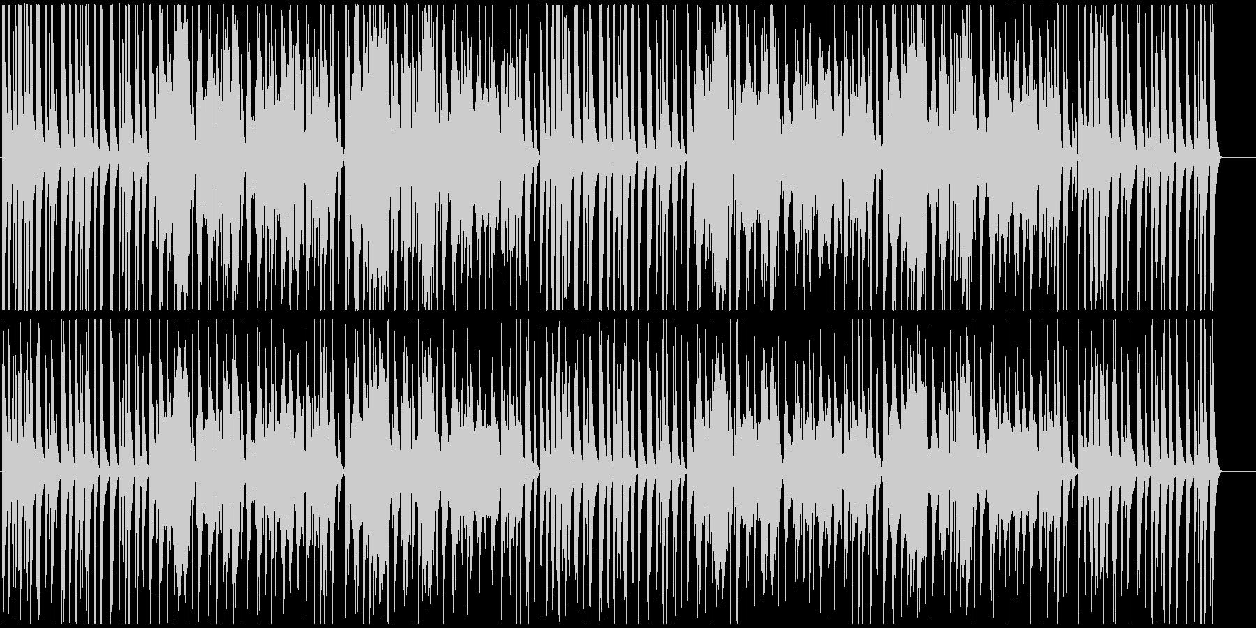 明るく軽快な和風BGMの未再生の波形