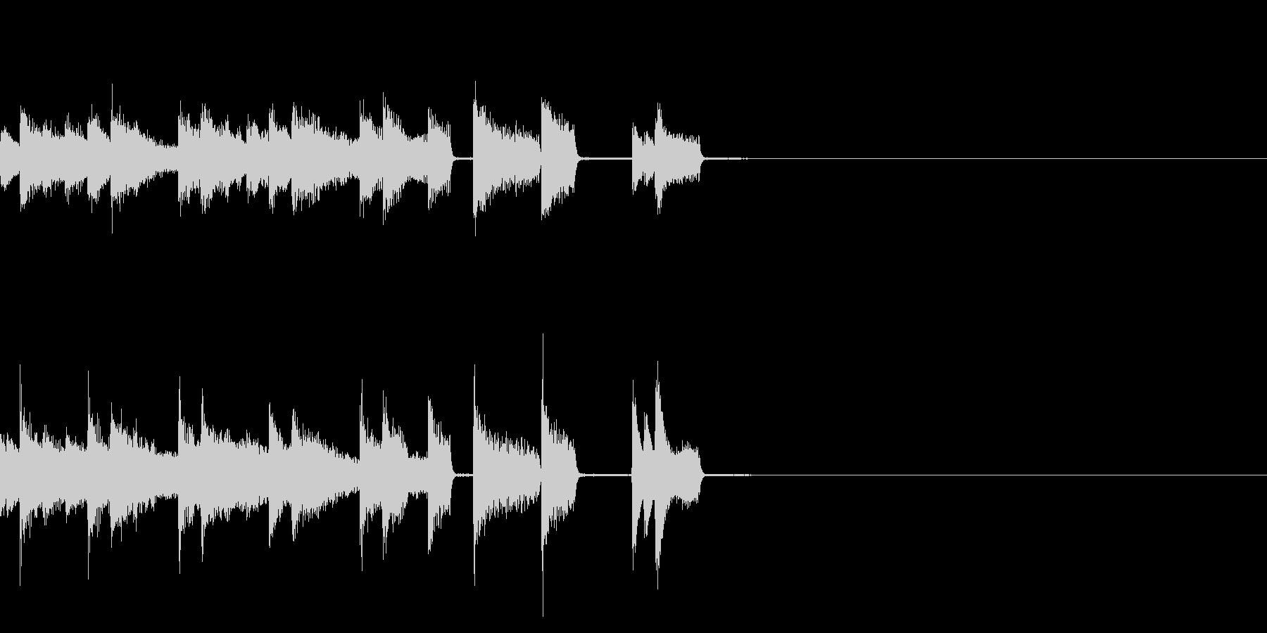 ピアノのパキパキとしたジングルの未再生の波形