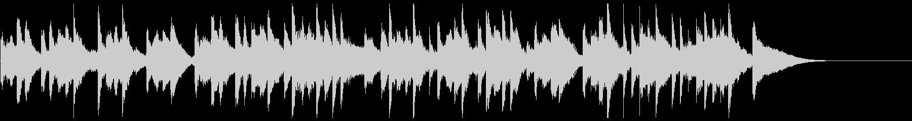 軽快なマリンバが楽しい20秒楽曲の未再生の波形