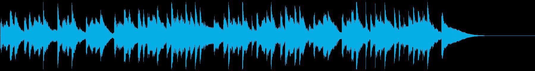 軽快なマリンバが楽しい20秒楽曲の再生済みの波形