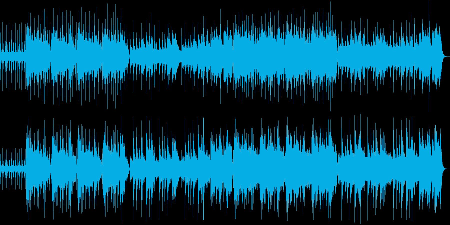 ミステリアスであやしげなエスニック風の曲の再生済みの波形