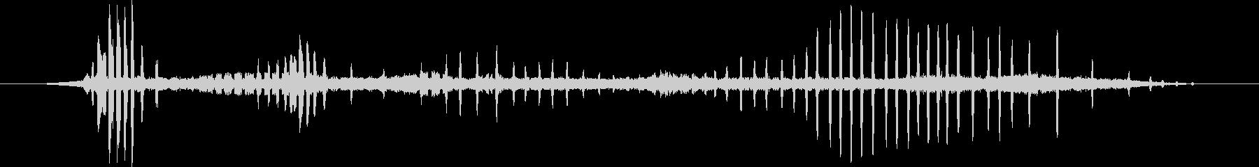レッサーナイトホーク:呼び出し、鳥の未再生の波形