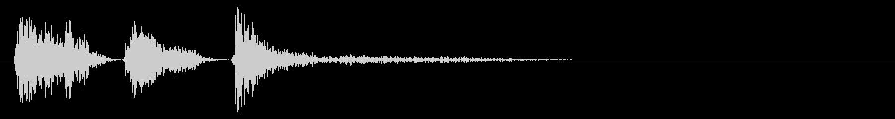 スクラッチ、DJの未再生の波形