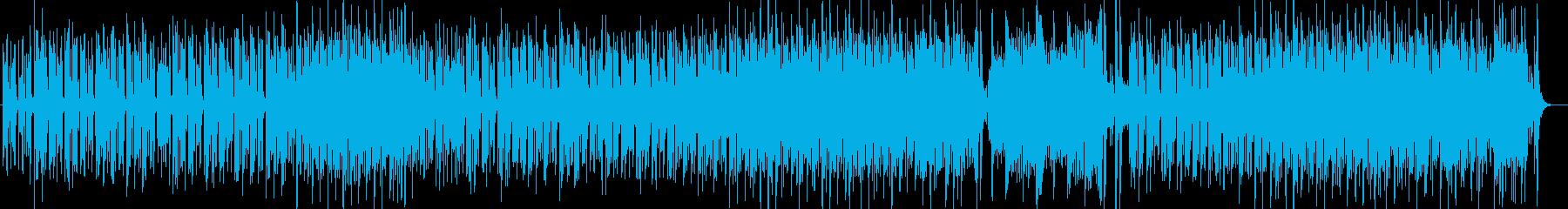 明るい陽気なシンセサイザーのリズムの再生済みの波形