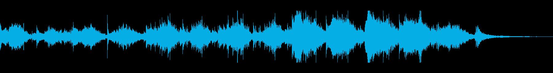 神秘的なリラクゼーションミュージックの再生済みの波形